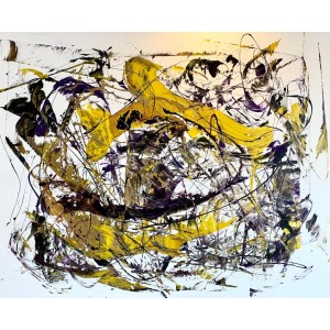 Painting from Curro Leyton - Yellow & Purple Energy