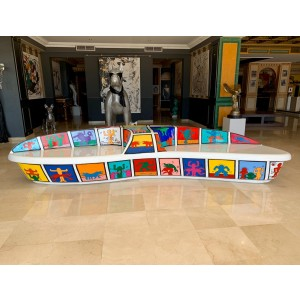 Art Design - Banco tributo a Keith Haring