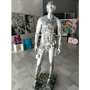 Sculpture - Silver Man